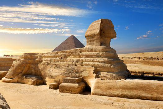 Famous egyptian sphinx