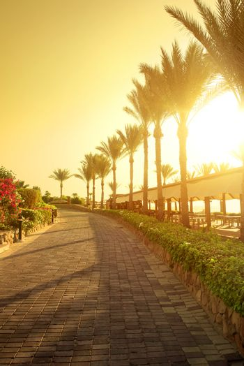Seafront in Egypt