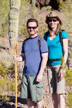 Desert Hiker Couple