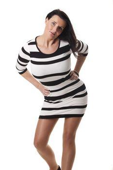 pretty woman in a summer dress
