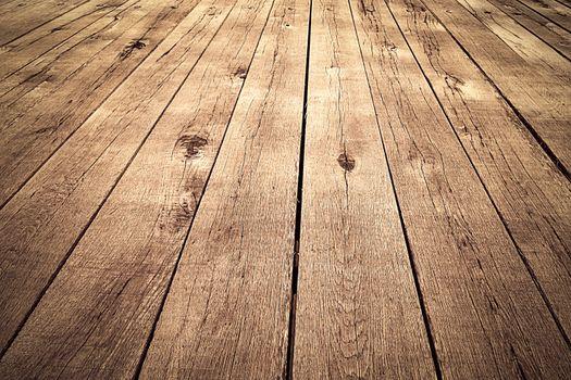 oak boards on the bridge