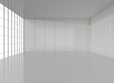 White exhibition room