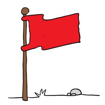 flag on a pole