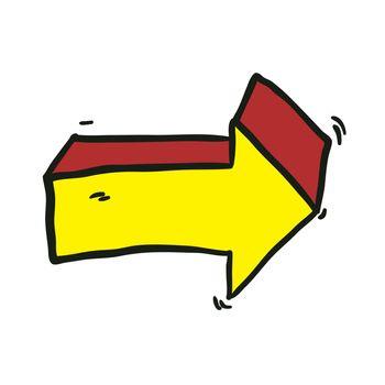 freehand drawn cartoon arrow