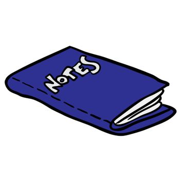 freehand drawn cartoon note book