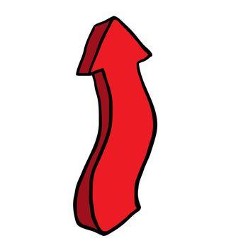 freehand drawn cartoon pointing arrow