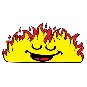 happy burning fire fire