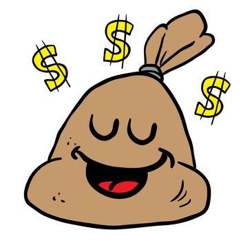 happy money bag