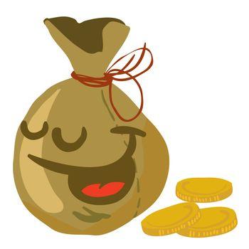 moneybag smile