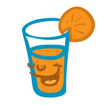 orange juice smiling