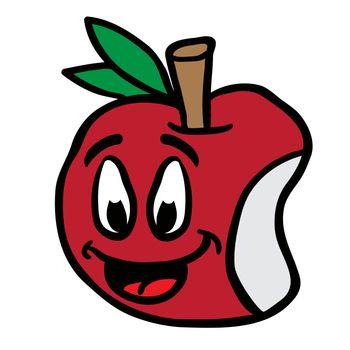 smiling apple