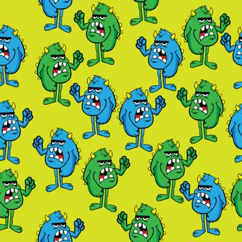 angry monster pattern