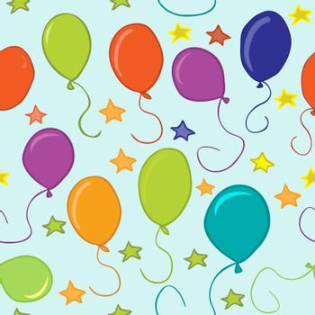 baloons and stars pattern