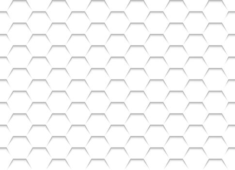 White Honeycomb Grid Texture - Background Illustration, Vector