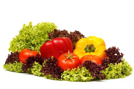 Fresh vegetables decoration