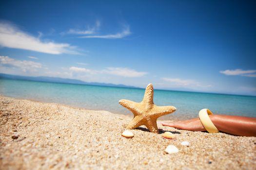 Peaceful day on the beach