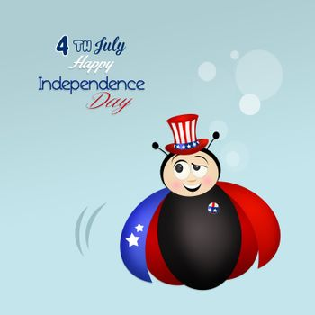 illustration of Independence Day, 4th of July
