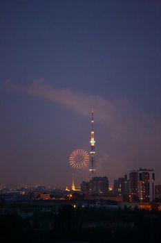 Salute fireworks in Saint-Petersburg