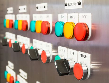 Industrial, electric switch panel