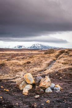 Rocks in a highland landscape