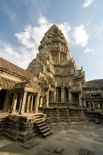 Central Tower of Angkor Wat in Siem Reap