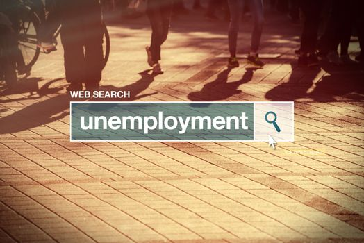 Unemployment web search bar glossary term