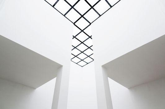 Empty interior with translucent ceiling