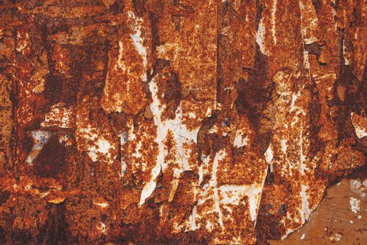 Corroded sheet metal plate