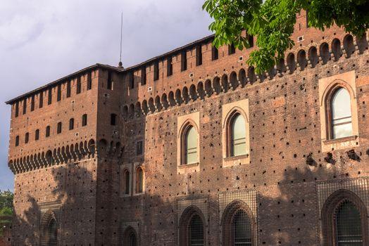 Outer wall Sforza castle