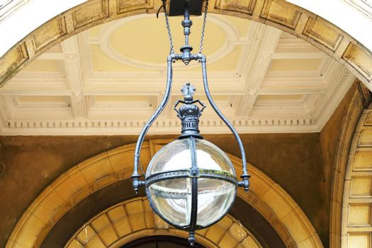 Large Globe light above entrance way
