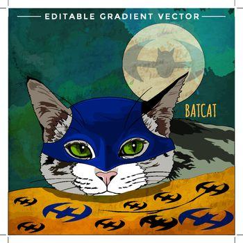 Cats superheroes. Bat Cat