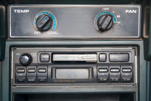 cassette tape player in car