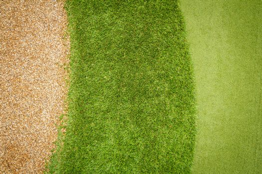 green grass and gravel pattern