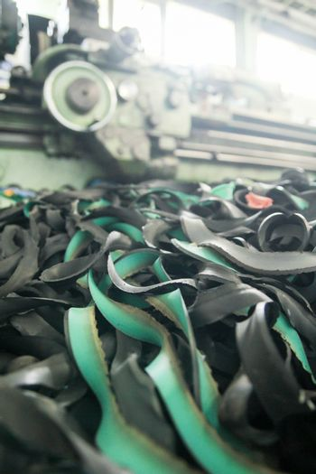 Waste Material from Lathe Machine