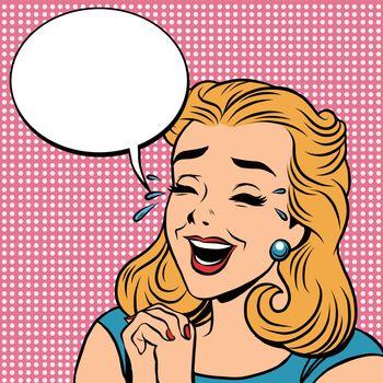 Emoji retro laughter joy joke girl emoticons