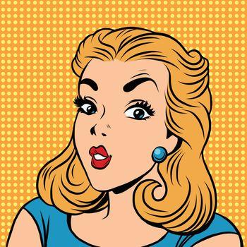Emoji retro girl emoticons