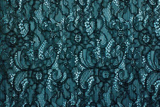 Black openwork lace background texture