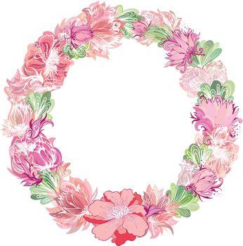 Gentle Vector Floral Wreath
