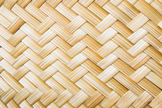 Stripes made of bamboo weaving.