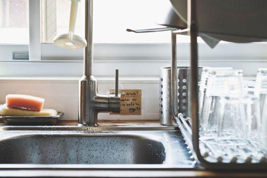 Interior of rural kitchen