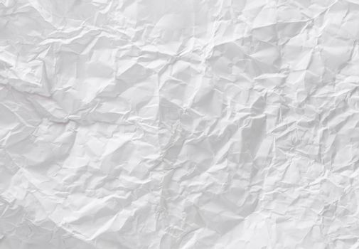 Texture of crumpled white paper.