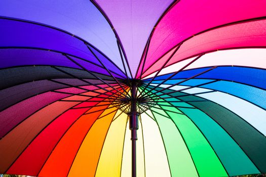 The colors of the rainbow umbrella