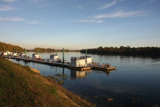 Beautiful nature with weekend cottages on Sava river close to Belgrade,Serbia