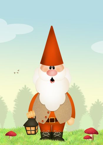 gnome in the forest