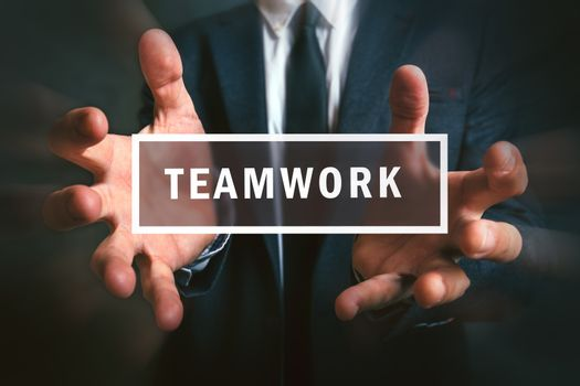 Concept of teamwork in business project