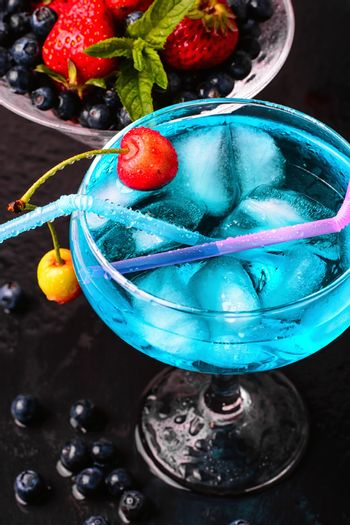 glass of alcoholic cocktail