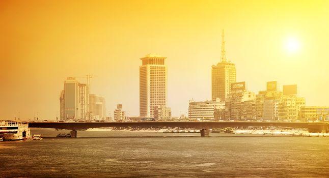 Nile in city