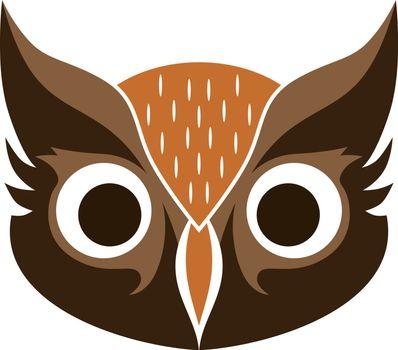decorative owl bird theme vector art illustration