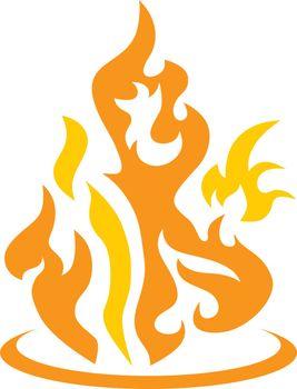 fire burn theme