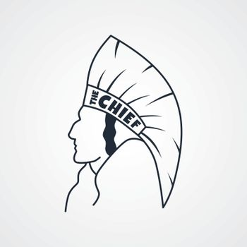 indian chief art sign